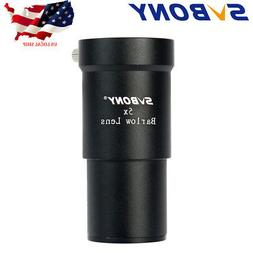 "SVBONY1.25"" 5X Magnification Barlow Lens 31.7mm Metal For"