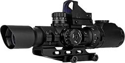Trinity Force 1-4X28 Assault Scope Combo w/ Red Dot, 28mm, S