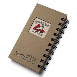 1 X Bird Watching, My Bird Journal - MINI Natural Kraft Brow
