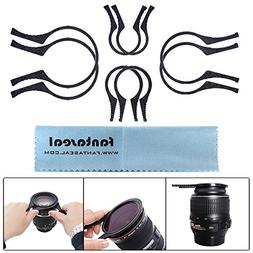 Fantaseal 4-in-1 Lens Filter Wrench Clamp Clip Black Ridged