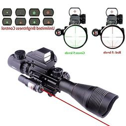Lovebay 3 in 1 Tactical Rifle Scope 4-12x50EG Dual Illuminat