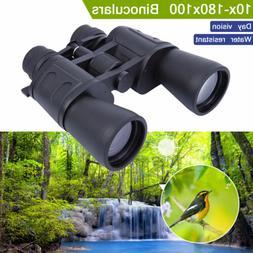 10-180x100 Zoom Telescope Day Night Vision Travel Binoculars