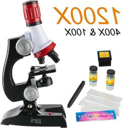AmScope 10pc Starter Educational Science Compound Microscope