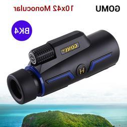 GOMU 10X 42mm Monocular Binocular BAK-4 for Bird Watching Wa
