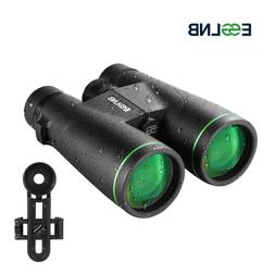10X Binoculars 50mm FMC Lens with Mobile Holder for Hunting