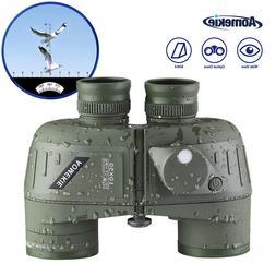 10X High Power Binoculars 50mm Optical Lens FMC with Compass