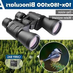10x180 Binoculars Green Film Plated Objective Lens Bird Watc