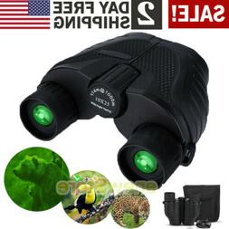 10x25 Zoom Day Night Vision Outdoor Travel HD Binoculars Hun
