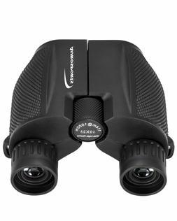 Aurosports 10x25 Binoculars for Adults and Kids, Folding Com