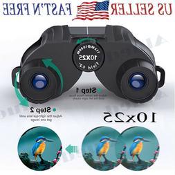10x25 Compact Binoculars for Adults Kids Light weight High P