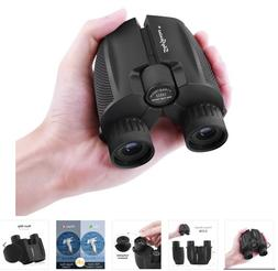 SkyGenius 10X25 Small Compact Lightweight Binoculars With Cl
