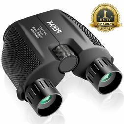 PEKAK 10x25 Small Compact Mini Binoculars for Adults with Lo