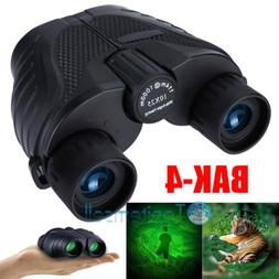 10x25 Zoom Day Night Vision Outdoor Travel HD Binoculars Hun