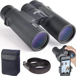 Gosky 10x42 Professional Binoculars FMC Lens-w/ Phone Mount