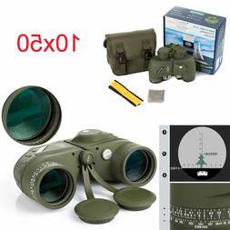 10x50 Binoculars Marine Navy with Rangefinder Compass Reticl