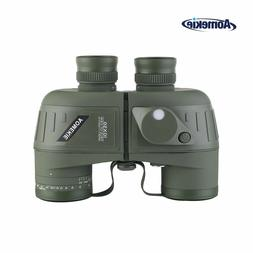 10X50 Binoculars & Rangefinder Compass Waterproof Outdoor Hu
