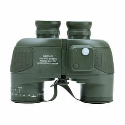 USCAMEL 10x50 HD Military Binoculars with Rangefinder Compas
