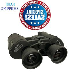 10x50 Powerful Full-Size Zoom Binoculars Optics Hunting Camp