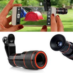 12X Zoom Telescope Camera Clip-on Lens For Smartphone Mobile
