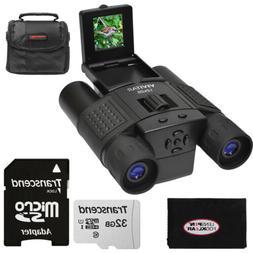 Vivitar 12x25 Binoculars with Built-in Digital Camera & 32GB
