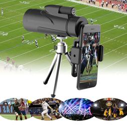 12X50 High Power Prism Monocular with Smartphone Holder Hunt