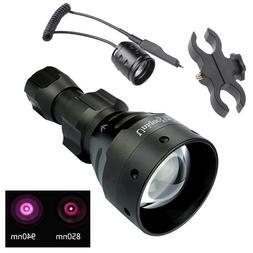 UniqueFire 1504 T67 IR 940NM/850NM LED Flashlight Zoom Torch