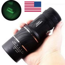 16x52 Vision HD Optical Monocular Hunting Camping Hiking Tel