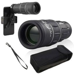 16x52 Optics Zoom Lens Monocular Camping Hiking 16x Telescop