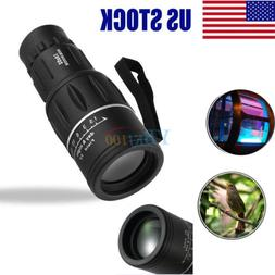 16X52 HD Optical Focus Monocular Day/Night Vision Camping Hi