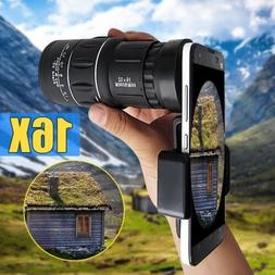 16x52 Zoom Hiking Monocular Telescope Lens Camera HD Scope H