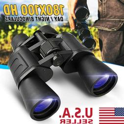 180x100 High Power Military Binoculars Day/Night Optics Hunt