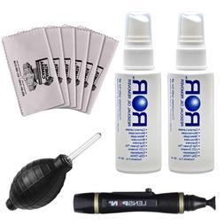2 ROR Optical Lens Cleaner Spray Bottles + Lenspen + Hurrica