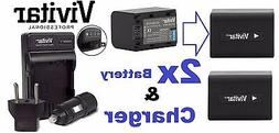 2-Pc NP-FV70 Battery & Dual Charger For Sony Recording Binoc