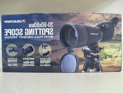 Celestron 20-60x60mm 45 Degree Zoom Power Spotting Scope Adj