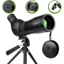 20-60x60mm Zoom Angled Spotting Scope Monocular Telescope wi