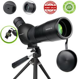 20x To 60x Zoom Angled Spotting Scope Monocular Telescope wi