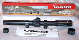 Tasco 4X 15mm .22 Rifle Air Gun Scope & Mount Rings RF4X15