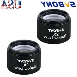 2pcs SVBONY 1.25''/31.7mm 2X Barlow Lens M28.6*0.6 for Teles