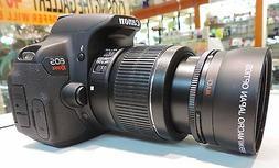 2X Tele Converter Lens FOR Canon EOS T2I 50D XSI Rebel 6D T3