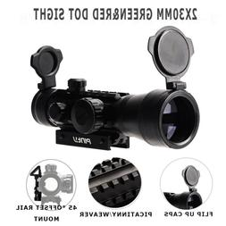 2X30m Green&Red Dot Sight w/Flip Up Lens Caps with 45°Angle