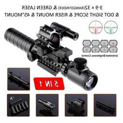 3-9x32EG Rangefinder Rifle Scope Reflex