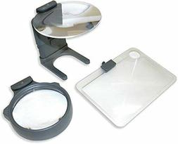 Carson 3-in-1 LED Lighted Magnifying Glass