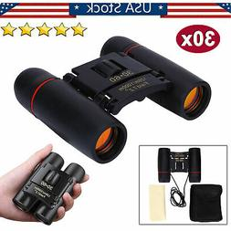 30x60 Zoom Mini Day Binoculars Outdoor Travel Folding Telesc