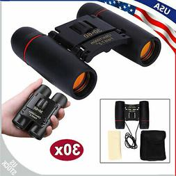 30x60 Zoom Mini Folding Day Night Vision Binoculars Outdoor