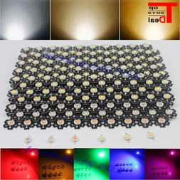 3W watts High Power SMD LED Chip Light Beads White Red Blue