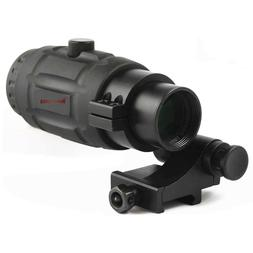 Vector Optics 3X Magnifier Scope for Red Dot Sights w/ Flip