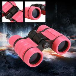 4X30 Pink Binoculars Vanfn Rubber Adjustable Mini Lightweigh
