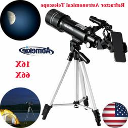 400x70mm Refractor Astronomical Telescope With Tripod/Phone