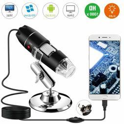 40X-1000X Digital Microscope USB Handheld Endoscope 8 LED Ca