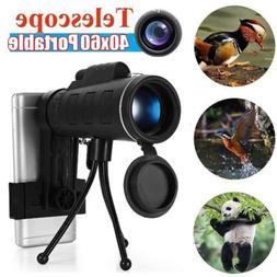 40X60 HD Monocular Zoom Telescope HD Optical Lens Night Visi